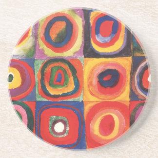Farbstudie Quadrate - arte colorido Posavasos Para Bebidas