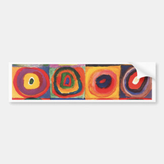 Farbstudie Quadrate - colorful art Bumper Sticker