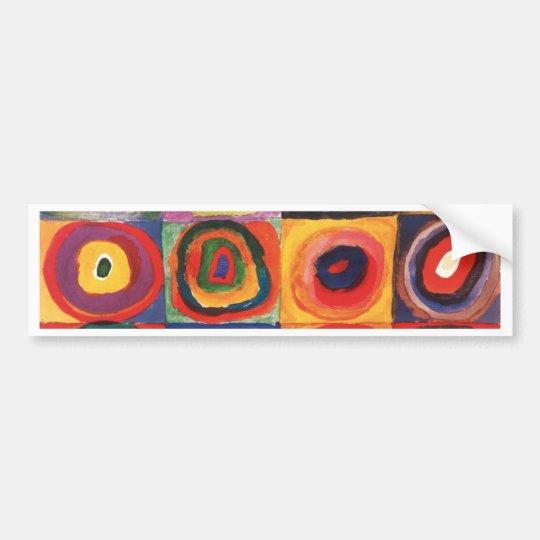 Farbstudie Quadrate - colorful art Bumper Sticker