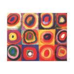 Farbstudie Quadrate - colorful art Canvas Print