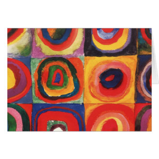Farbstudie Quadrate - colorful art Greeting Cards