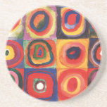 Farbstudie Quadrate - colorful art Drink Coasters
