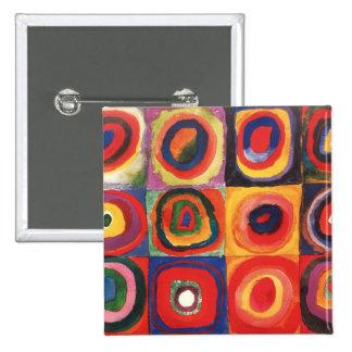 Farbstudie Quadrate - colorful art Pinback Button