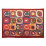 Farbstudie Quadrate - colorful art Place Mat