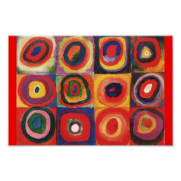Farbstudie Quadrate - colorful art Poster
