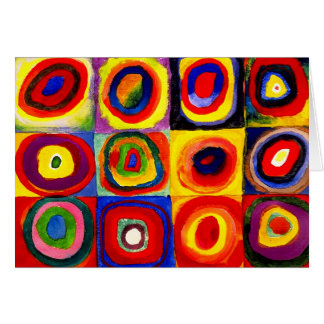 Farbstudie Quadrate Kandinsky Squares Circles Card