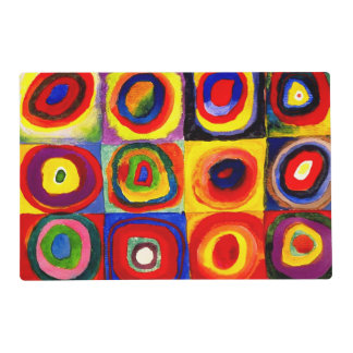 Farbstudie Quadrate Kandinsky Squares Circles Placemat