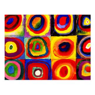 Farbstudie Quadrate Kandinsky Squares Circles Postcard