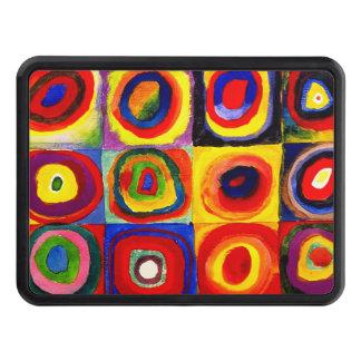 Farbstudie Quadrate Kandinsky Squares Circles Trailer Hitch Cover