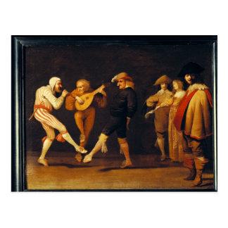 Farce Actors Dancing Postcard