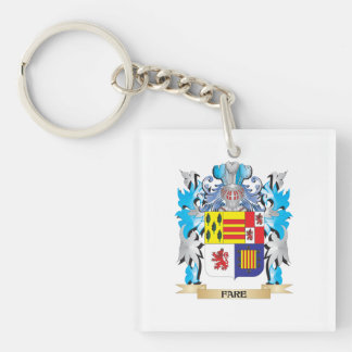Fare Coat of Arms - Family Crest Acrylic Key Chain