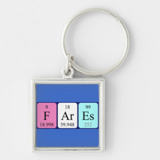 Fares periodic table name keyring key chains