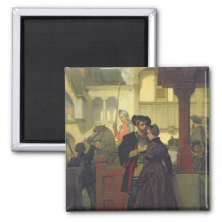 Farewell, 1864 2 inch square magnet