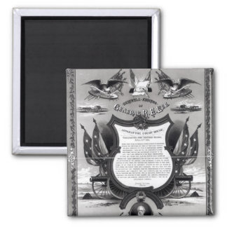 Farewell Address of General Robert E. Lee 2 Inch Square Magnet