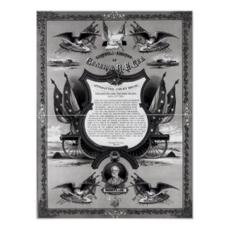 Farewell Address of General Robert E. Lee Poster