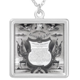 Farewell Address of General Robert E. Lee Silver Plated Necklace