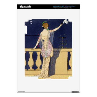 Farewell at Night, design for an evening dress by iPad 3 Decals