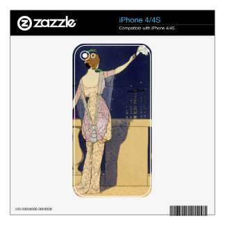 Farewell at Night, design for an evening dress by iPhone 4S Skins