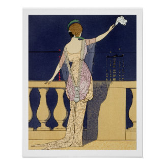 Farewell at Night, design for an evening dress by Poster