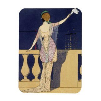 Farewell at Night, design for an evening dress by Rectangular Photo Magnet