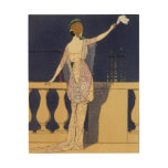Farewell at Night, design for an evening dress by Wood Print