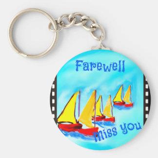 Farewell Basic Round Button Keychain