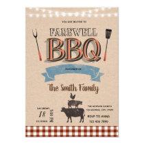 Farewell bbq party invitation
