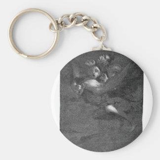 Farewell by Francisco Goya Basic Round Button Keychain