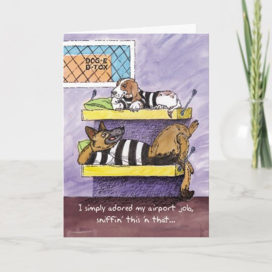 Farewell Card - Dog Detox   Zazzle.com