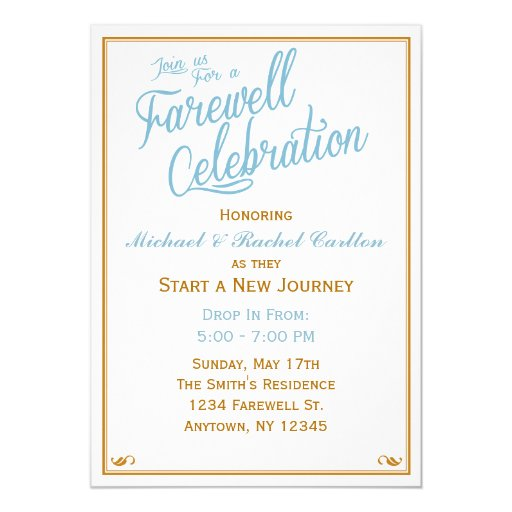 Farewell Lunch Invitation is awesome invitations design