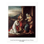 Farewell Christ With Mary Mary And Martha Post Cards