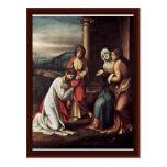 Farewell Christ With Mary Mary And Martha Post Card