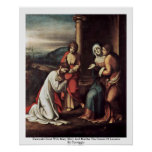 Farewell Christ With Mary Mary And Martha Posters