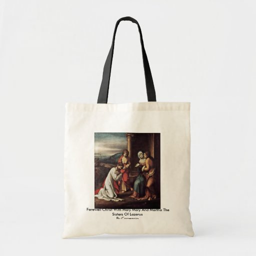 Farewell Christ With Mary Mary And Martha Tote Bag