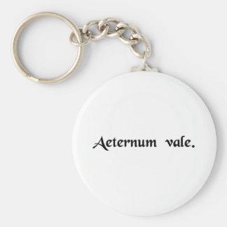 Farewell forever basic round button keychain