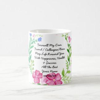 Farewell Gift Colleague Friend Boss Personalized Coffee Mug