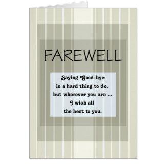 Farewell/Good-Bye Green Stripes Card