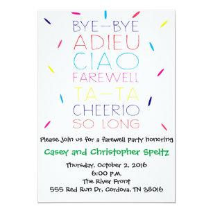 Farewell Invitations Announcements Zazzle