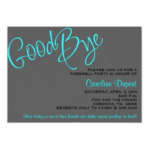 Farewell Invitation Card Design was amazing invitations template