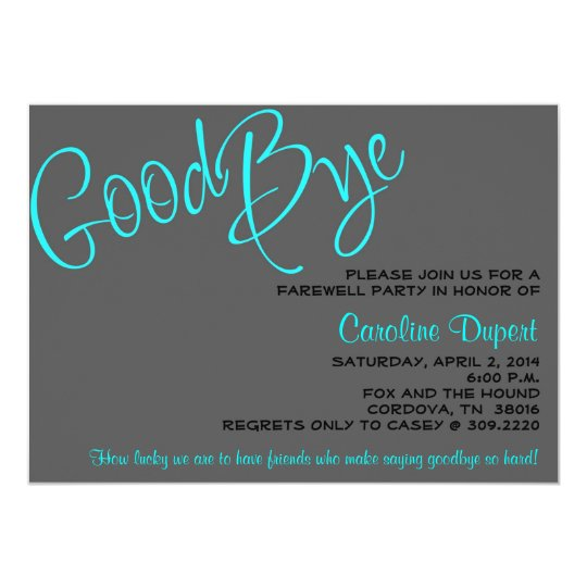farewell invitation zazzle com