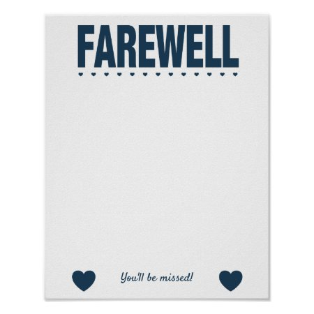 Farewell Leaving Party Guest Book Poster