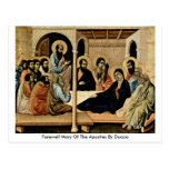 Farewell Mary Of The Apostles By Duccio Postcards