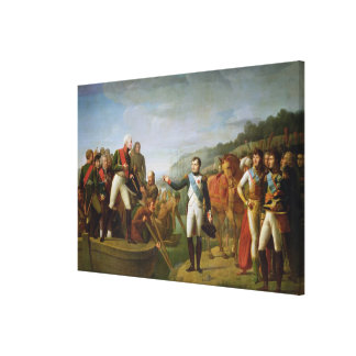 Farewell of Napoleon I  and Alexander I Canvas Print