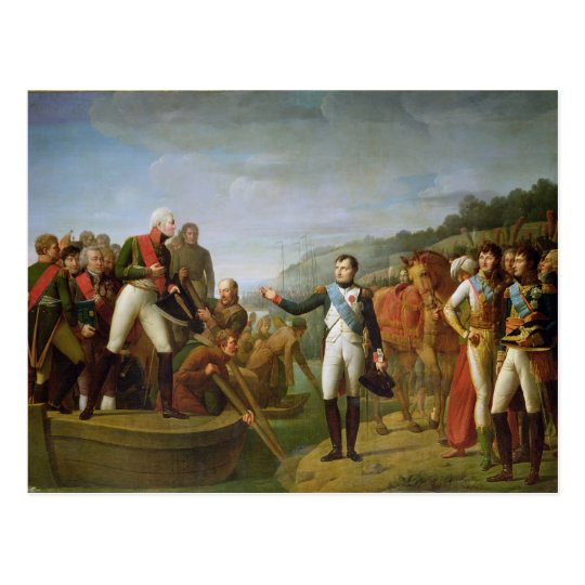 Farewell of Napoleon I  and Alexander I Postcard