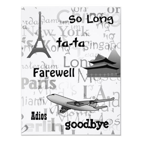 Farewell Party Invitation