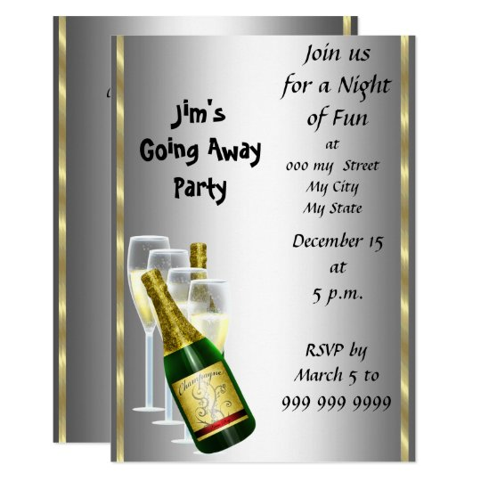 farewell party invitation card zazzle com
