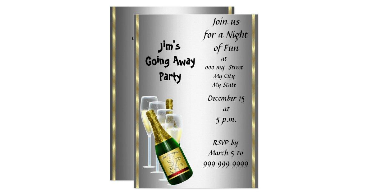 Farewell Party Invitation Card Zazzle Com
