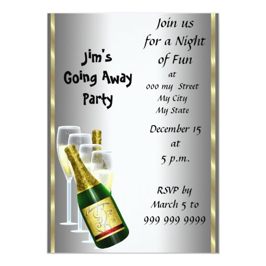 Going Away Party Invitation Template with great invitation sample