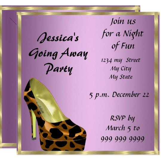 farewell party invitation card good bye  zazzle