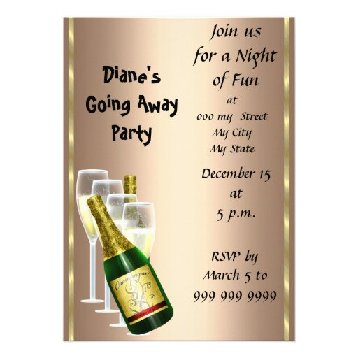 Fare Well Party Invitation